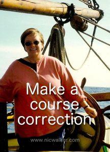 make a course correction